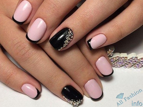 френч на коротких ногтях (103)