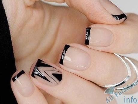 френч на коротких ногтях (21)
