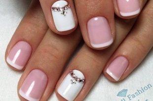 френч на коротких ногтях (23)