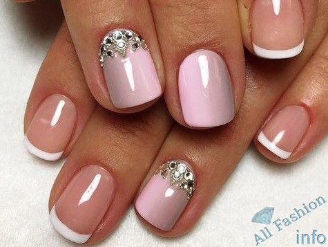 френч на коротких ногтях (26)