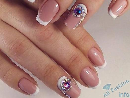 френч на коротких ногтях (28)