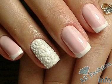 френч на коротких ногтях (34)