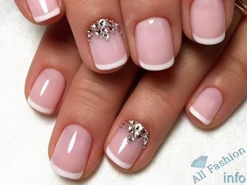 френч на коротких ногтях (37)