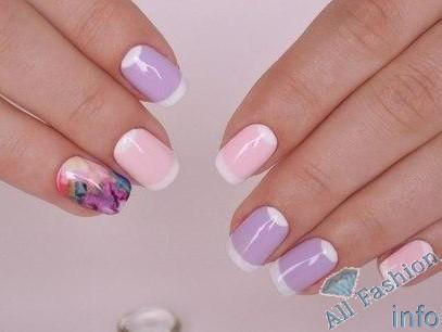френч на коротких ногтях (39)