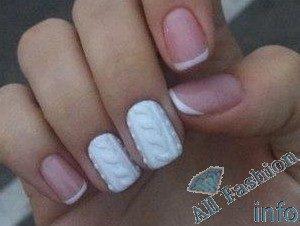 френч на коротких ногтях (41)