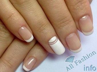 френч на коротких ногтях (54)