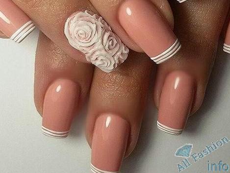 френч на коротких ногтях (55)