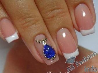 френч на коротких ногтях (80)