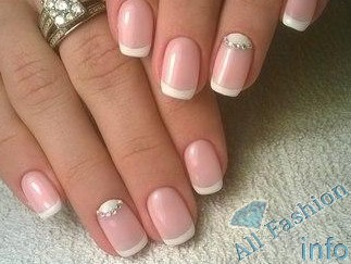 френч на коротких ногтях (89)