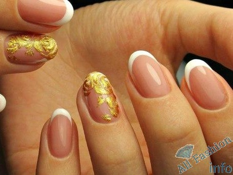 френч на коротких ногтях (93)