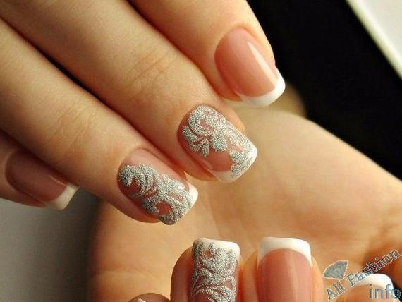 френч на коротких ногтях (97)