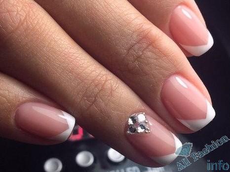 френч на коротких ногтях (99)