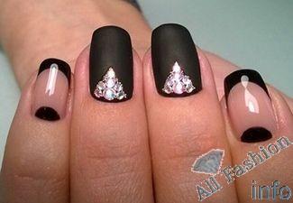 Розовые Ногти Со Стразами Дизайн Фото