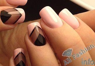 Классический дизайн ногтей 2017