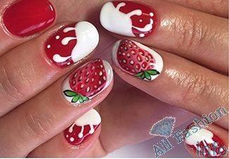 Гель лак летний дизайн на короткие ногти