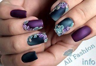 Нарощенные ногти дизайн омбре 46