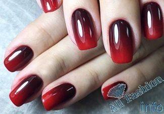 Нарощенные ногти дизайн омбре 73