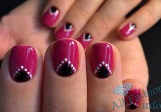 Лунный маникюр на коротких ногтях (14)