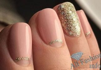 Лунный маникюр на коротких ногтях (27)