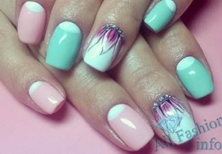 Лунный маникюр на коротких ногтях (13)