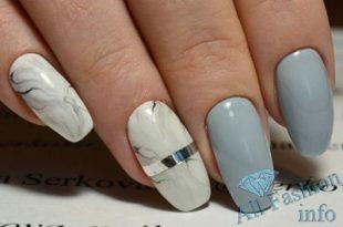 Бежевые ногти с рисунком