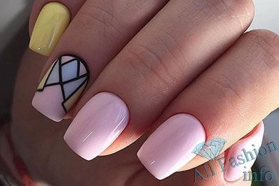 Дизайн коротких ногтей [year] 180 фото новинок