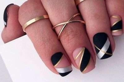 Модный маникюр на квадратные ногти: фото-новинки 2020-2021 | 266x400