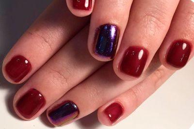Шикарный бордовый маникюр - тренд, который ввела принцесса Диана.