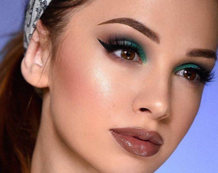 макияж на выпускной для карих