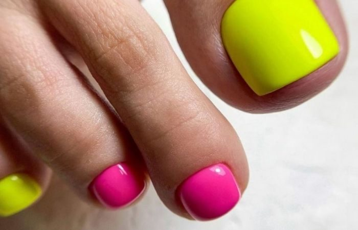 педикюр на короткие ногти