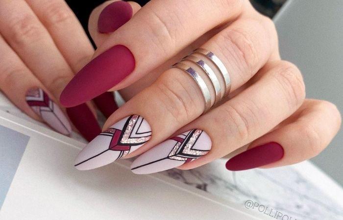 ногти с геометрическим рисунком