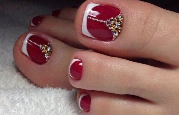 педикюр дизайн ногтей на ногах фото